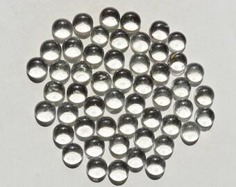 4 pieces Natural Superb Crystal Quartz Crystal Cabochon Round Shape Loose Gemstone calibrated clear quartz cabochon MM20