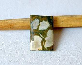 80% Sale Rhyolite Cabochon 24.5 Cts Natural Rainforest Jasper Gemstone Rectangle Shape 26x17x6 MM AC2509