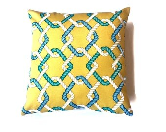 Outdoor decorative pillow cover,yellow, (Solarium Outdoor Fabric)