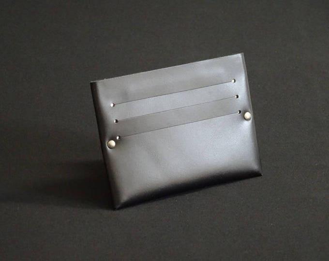 Single6 Wallet - Satin Black- Kangaroo leather with RFID credit card blocking - Handmade - Mens/Womens - James Watson