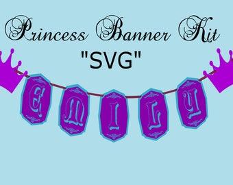 "Princess Banner ""SVG FILE"" Kit"