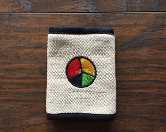 NOS Peace Symbol Velcro Wallet, made in Nepal