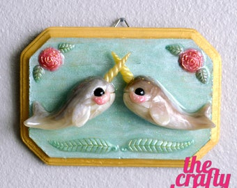 Sweet Narwhal Love Plaque