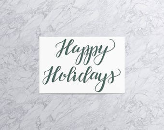 Happy Holidays  | Christmas Card and Envelope (Set of 4)