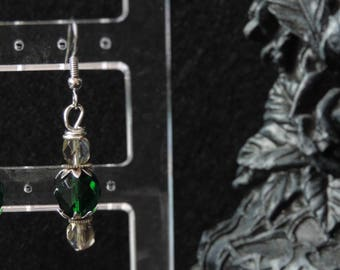 """Green Gearwork"" earrings"