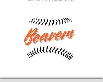 Oregon State Beavers Baseball Graphic - Cut Files Included - Beaver SVG - Oregon SVG - Digital Download - Oregon Ducks SVG!