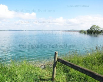 At the lake photo Summer Nature lover photo Digital download Landscape photo Blue water picture Anniversary gift for men Gift for father