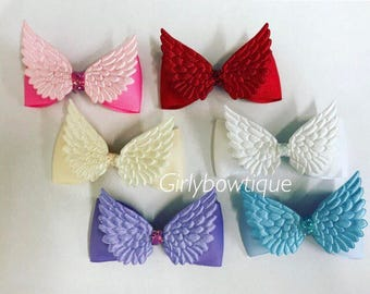Single bow Angel wing bows