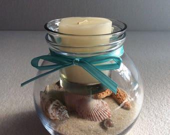 Beach Theme Fish Bowl Candle