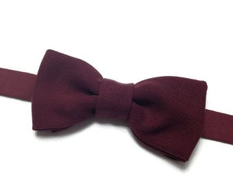 bow tie, bowtie, Burgundy bow, bow tie pre tied, wedding winter gift for coworker
