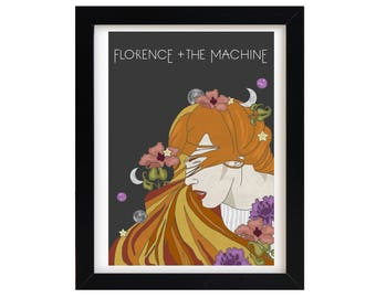 Illustration | Art Print | Wall Decor | Florence and the Machine | A4