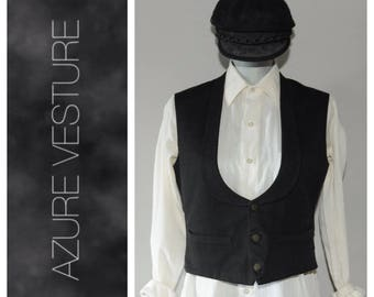 1900s 1800s Wool Vest Waist Coat. Antique Mens Costume Steam Punk Peaky Blinders *AS IS