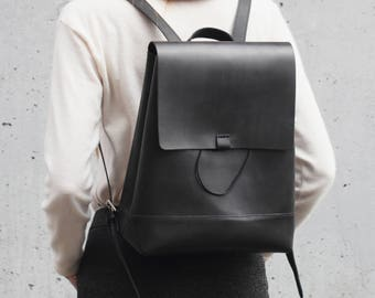 Leather backpack Divalli B0021