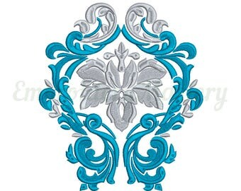 Classic machine embroidery ornament. Classic embroidery design. Instant download