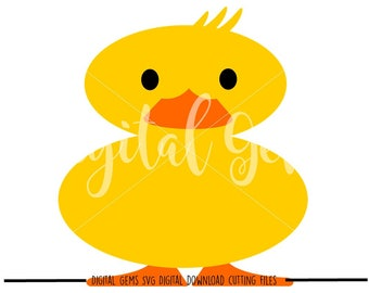 Duck svg / dxf / eps files. Digital download. Compatible with Cricut and Silhouette machines. Small commercial use ok.