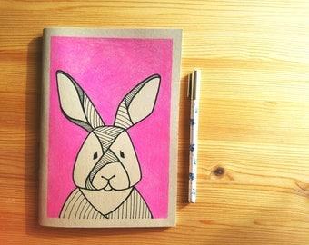 A5 Kraft sketchbook, hand drawn illustration