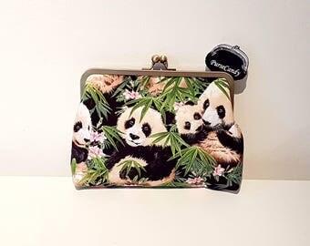 PANDA LOVE - Beautiful panda clutch bag