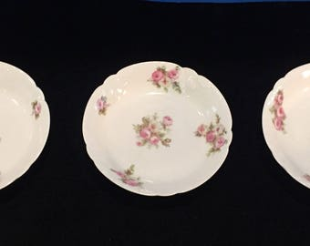 Set of 3 Antique Small Haviland Limoges Dishes