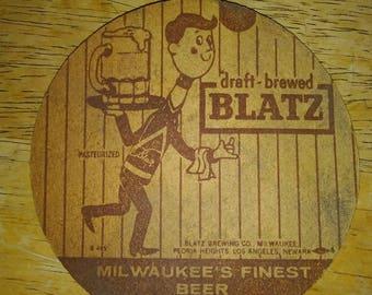 Vintage Blatz Bar Coaster