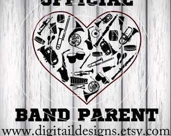 Marching Band SVG - png - eps - fcm - ai - dxf - Instant Download - Commercial Use - Cricut Silhouette File - Band Parent SVG