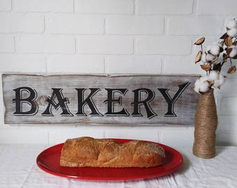 farmhouse sign, bakery decor, farmhouse kitchen, farmhouse wall decor, bakery sign, kitchen wall decor, kitchen decor, handpainted signs