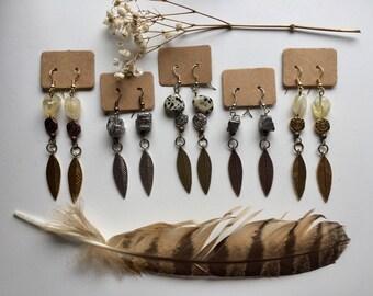 Energizing Creativity Feather Earrings