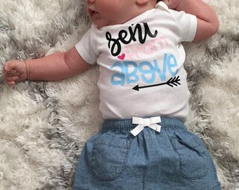 Sent from above newborn bodysuit