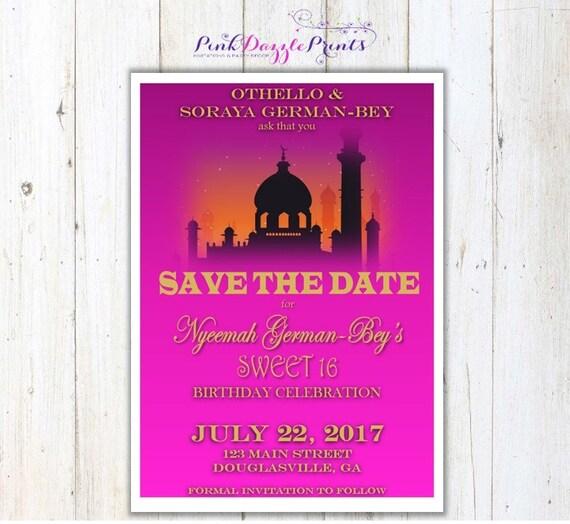 Moroccan Sweet 16 Invitations
