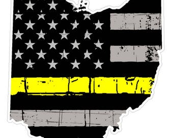 Ohio State (E36) Thin Yellow Line Dispatch Vinyl Decal Sticker Car/Truck Laptop/Netbook Window