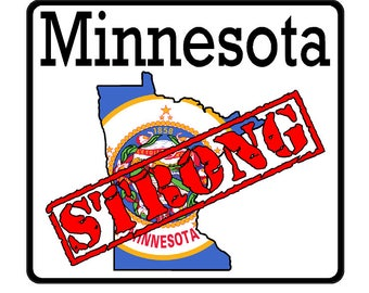 Minnesota State (K24) Strong Flag Vinyl Decal Sticker Car/Truck Laptop/Netbook Window