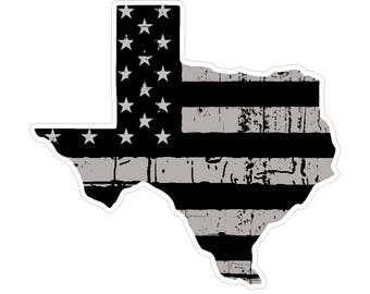 Texas State (N2) Distressed Flag Vinyl Decal Sticker Car/Truck Laptop/Netbook Window