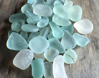 Blue & White Sea Glass Mix