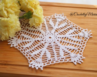 White mini doily Crochet doily Round crochet doily wedding doily crochet lace doily Crochet table decoration Crochet placemat crochet item