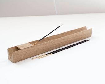 Incense Holder Natural solid Oak