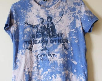 Women's Splatter Bleached Bill and Ted's Excellent Adventure T Shirt X Large