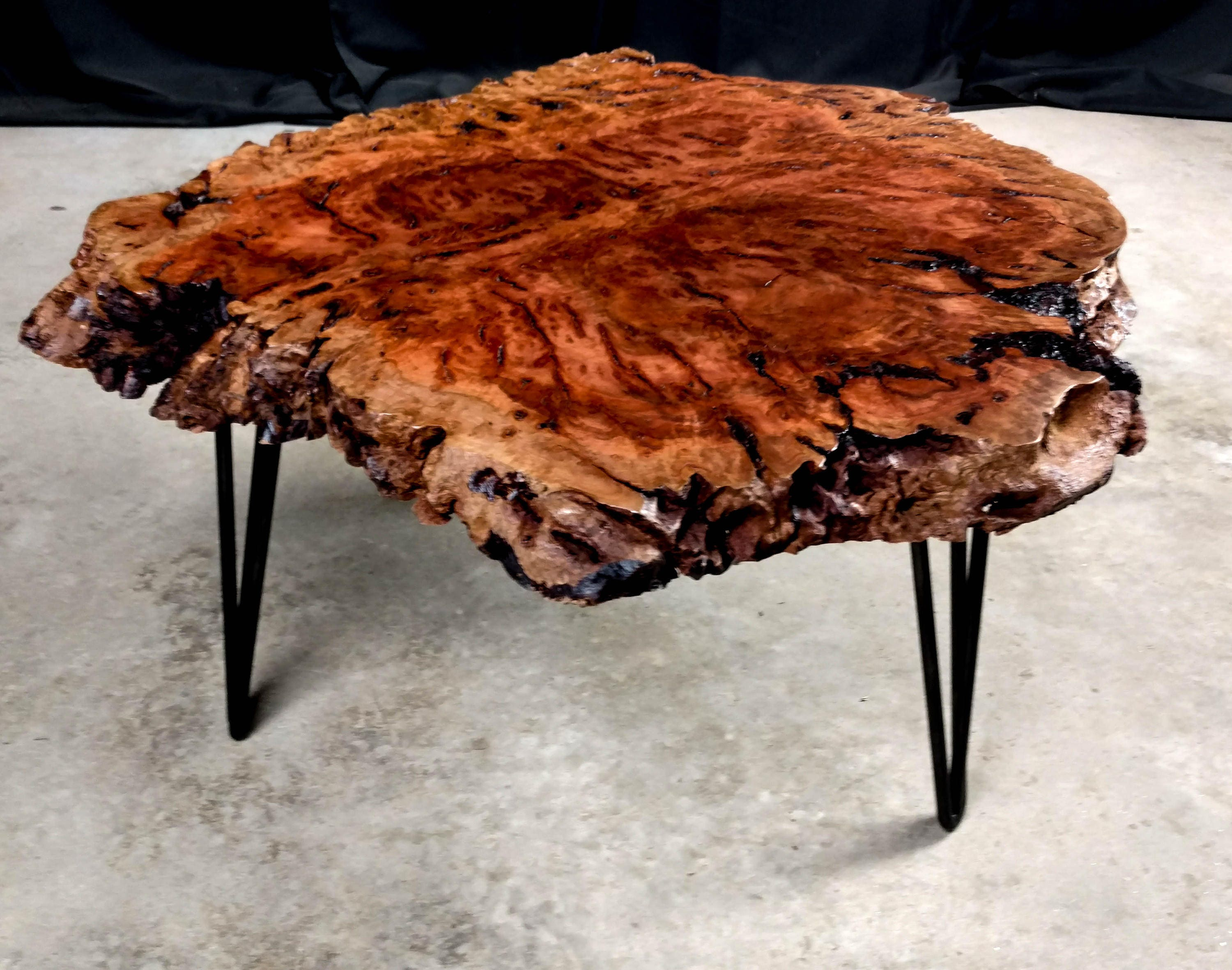 SALE Red Gum Burl Coffee Table