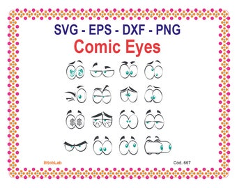 comics eyes svg files eps dxf png