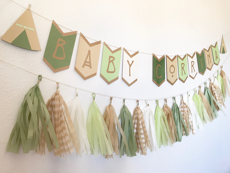 Boho Banner | Boho Baby Shower Banner | Bohemian Banner | Bohemian Baby  Shower | Teepee