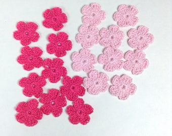 Tiny Flower Appliqués - set of 20 (#06-33B-4)