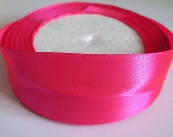 10 m 20mm fuchsia colored satin ribbon