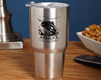 Big Catch Custom Stainless Steel Tumbler - Fishing - Big Catch - Men who loves to fish