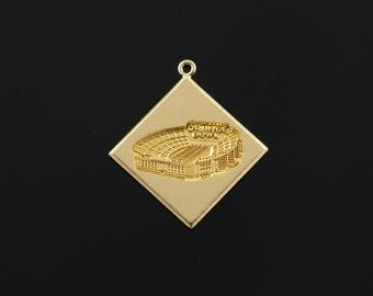 14k 1960's Miami Orange Bowl Stadium Charm/Pendant Gold