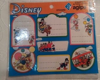 Vintage Donald Duck Stickers labels-Disney,product of France by AGIPA
