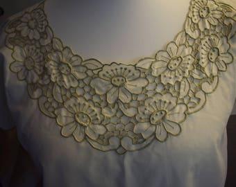 Vintage cream blouse, 1970s