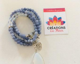 Mala, yoga, zen, meditation, Quartz, Moonstone, necklace, necklace, bracelet