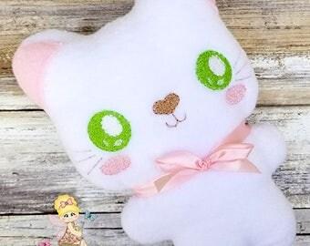 Kitten Stuffie - Kawaii Plush - Kitty Cat Plush - Softie - Toddler Toy - Soft Stuffed Animal - cloth toy