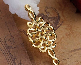 2 Golden Celtic knots connectors