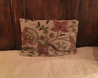 Wool Crewel Pillow BEAUTIFUL