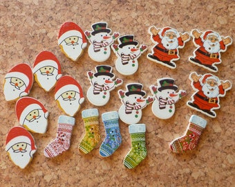 Christmas Button  Assortment No.1