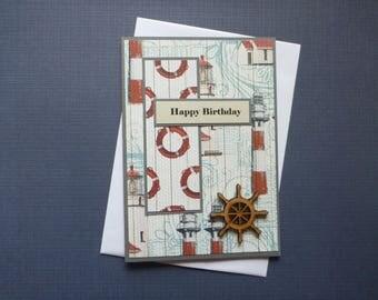 Nautical Birthday Card  FREE SHIPPING